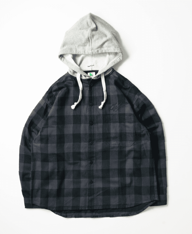 OFFSHORE × JM HOOD FLANNEL SHIRT